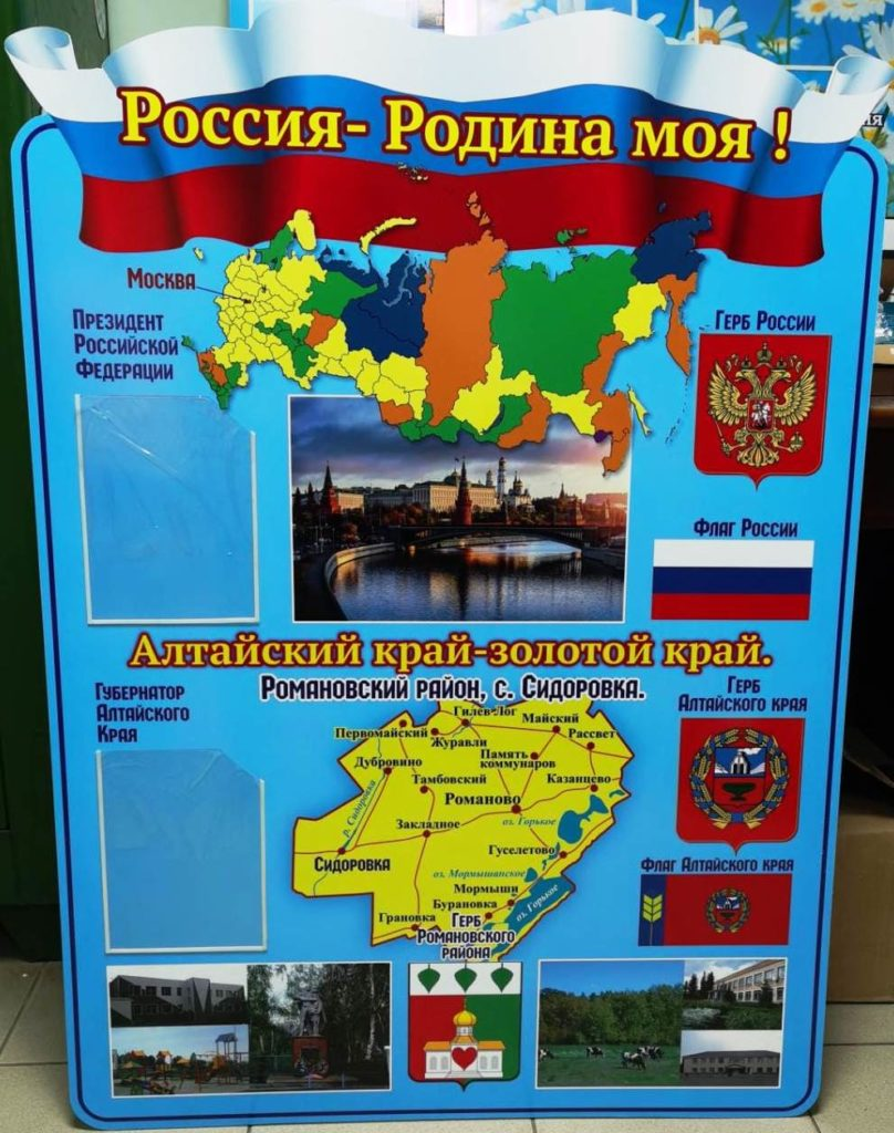 Стенд Россия Родина моя